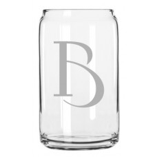 Celtic Monogrammed Can Glass