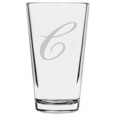 Monogrammed Bix Script Libbey Pint Glass