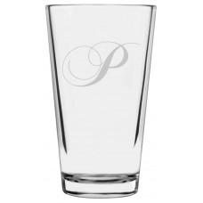 Monogrammed Chopin Script Libbey Pint Glass