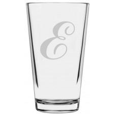 Monogrammed Commercial Script Libbey Pint Glass