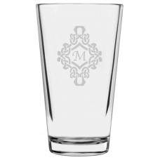 Monogrammed Decorated Libbey Pint Glass