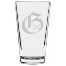 Monogrammed Old English Libbey Pint Glass