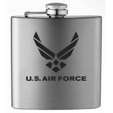 Air Force Military Themed Etched 6oz Stainless Steel Flask