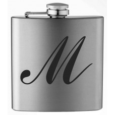 Monogrammed Commercial Script 6oz Stainless Steel Flask