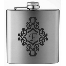 Monogrammed Decorated 6oz Stainless Steel Flask