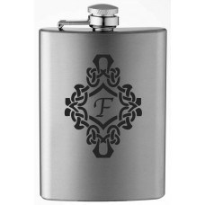 Monogrammed Decorated 8oz Stainless Steel Flask