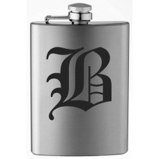 Monogrammed Old English 8oz Stainless Steel Flask