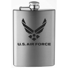 Air Force Military Themed Etched 8oz Stainless Steel Flask