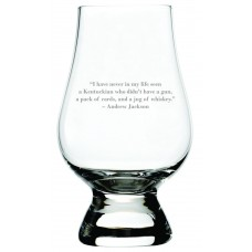 Andrew Jackson Quote Glencairn Whisky Glass