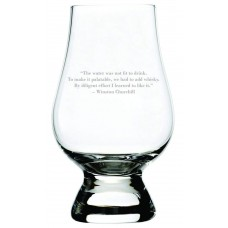 Winston Churchill Quote Glencairn Whisky Glass