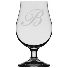 Bix Script Monogrammed Glencairn Crystal Iona Beer Glass