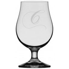 Chopin Script Monogrammed Glencairn Crystal Iona Beer Glass