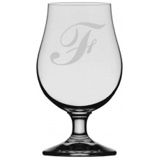 Commercial Script Monogrammed Glencairn Crystal Iona Beer Glass