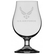 Air Force Military Themed Etched Glencairn Crystal Iona Beer Glass