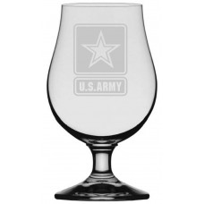 Army Military Themed Etched Glencairn Crystal Iona Beer Glass