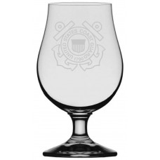 Coast Guard Military Themed Etched Glencairn Crystal Iona Beer Glass