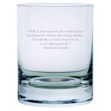 Abraham Lincoln Quote Rocks Whisky Glass