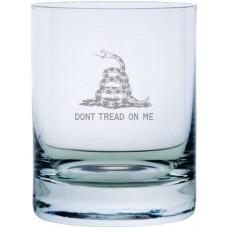 Don't Tread On Me 11oz Stolzle New York Crystal Rocks Glass