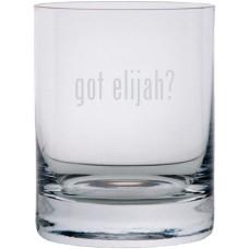got elijah? Etched 11oz Stolzle New York Crystal Rocks Glass
