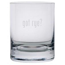 got rye? Etched 11oz Stolzle New York Crystal Rocks Glass