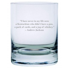 Andrew Jackson Quote Rocks Whisky Glass