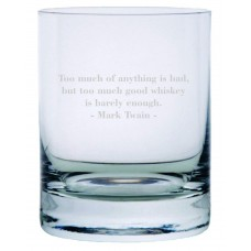 Mark Twain Quote Rocks Whisky Glass