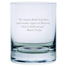 "Mark Twain ""If I Cannot Drink Bourbon ""Quote Rocks Whisky Glass"