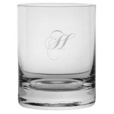 Monogrammed Chopin Script Stolze Crystal Rocks Glass