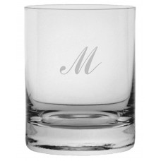 Monogrammed Commercial Script Stolze Crystal Rocks Glass