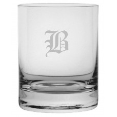 Monogrammed Old English Stolze Crystal Rocks Glass