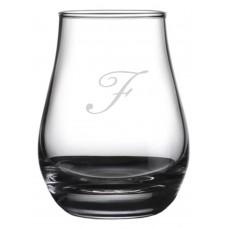 Monogrammed Bix Script Spey Whisky Glass