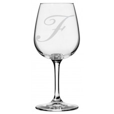 Monogrammed Bix Script Libbey All Purpose Wine Glass