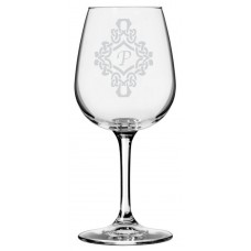 Monogrammed Decorated Libbey All Purpose Wine Glass