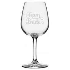Wedding Quotes 12.75 Libbey Etched Wine Glass